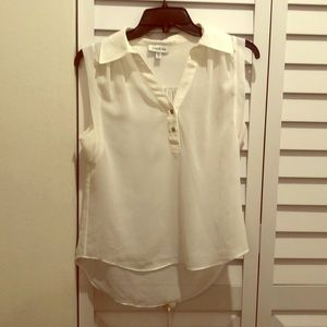 Super cute white bebe blouse